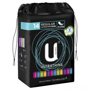 U By Kotex Ultrathin Pads Regular Non Wings