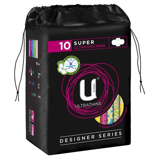 U By Kotex Designer Series Ultrathin With Wings Super