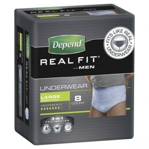 Depend Real Fit For Men Underwear Large
