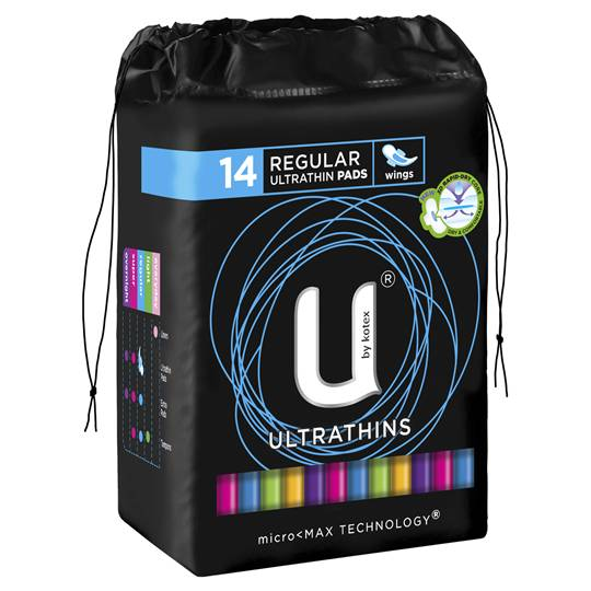 U By Kotex Ultrathin Pads Regular With Wings