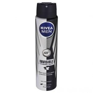 Nivea For Men Deodorant Aerosol Black & White Aero