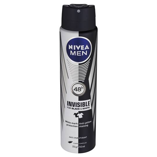 Nivea For Men Deodorant Aerosol Black & White Aero