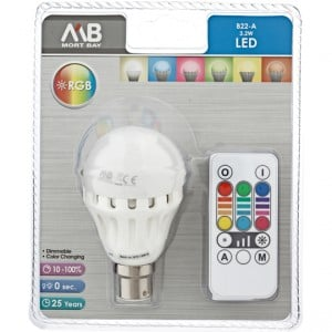 Mb Globe Rgb Colour Changing Led B22 3w