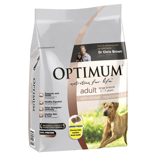 Optimum Adult Dog Food Large Breed Chicken Veg & Rice