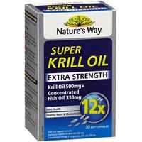 Nature's Way Super Krill Oil 500mg Soft Gel Capsules