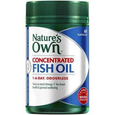 Nature's Own Concentrated Fish Oil 1000mg Capsules