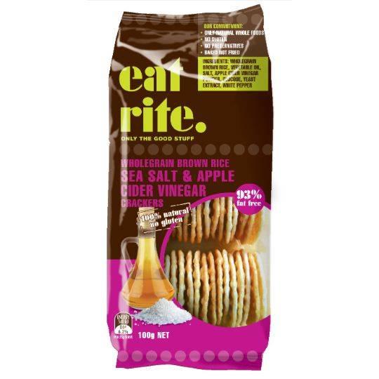 Eatrite Rice Crackers Sea Salt & Apple Cider