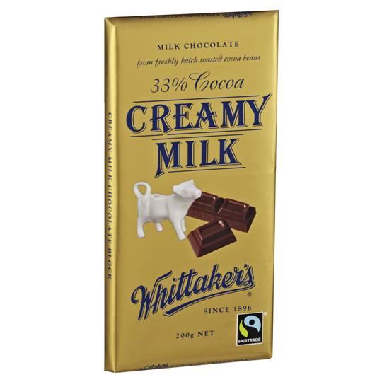 Whittakers Milk Chocolate 33% Cocoa Creamy