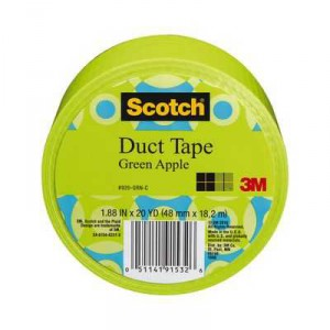 Scotch Duct Tape Apple Green Solid