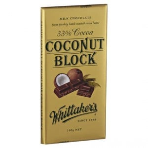 Whittakers Milk Chocolate 33% Cocoa Coconut