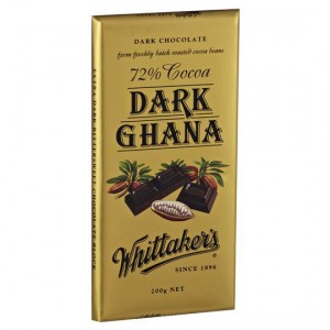 Whittakers Dark Chocolate 72% Cocoa Ghana