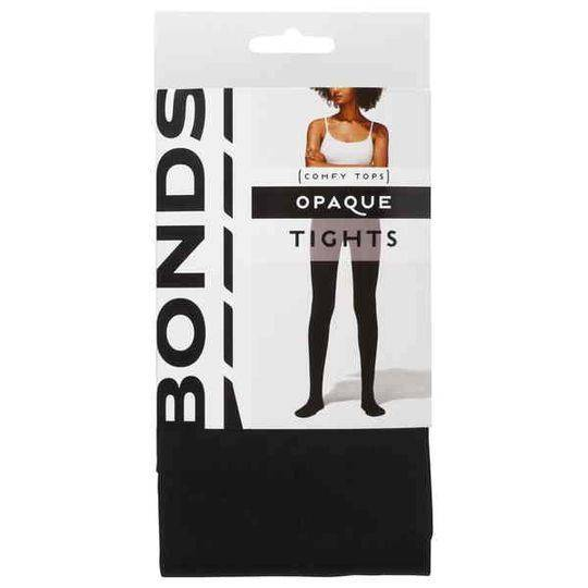 Bonds Comfy Tops Opaque Tights Black Med-lge