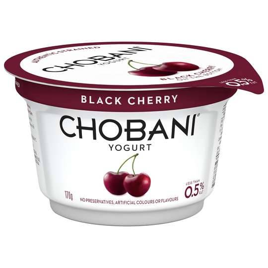 Chobani No Fat Black Cherry Yoghurt