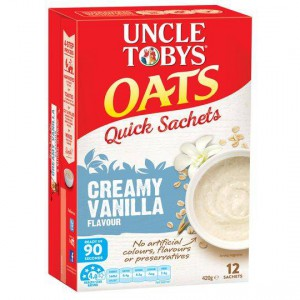 Uncle Tobys Creamy Vanilla Quick Oats Sachets