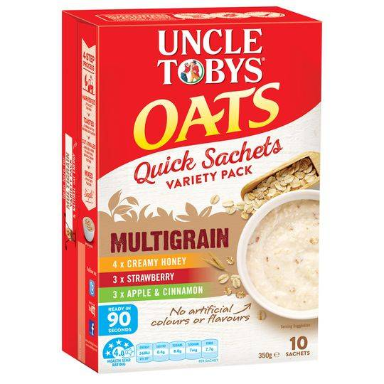 Uncle Tobys Multigrain Quick Oats Variety Sachet