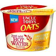 Uncle Tobys Creamy Honey Oats Cup