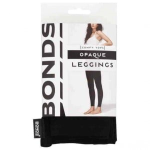 Bonds Comfy Tops Opaque Leggings Black Sml-med