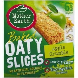 Mother Earth Baked Oaty Slice Apple Crumble