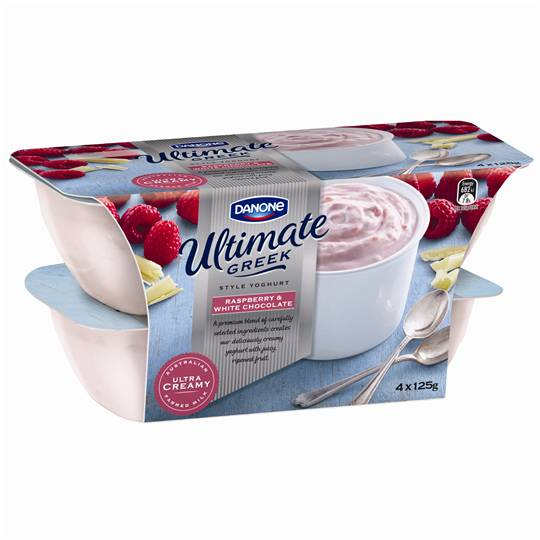 Danone Greek Yoghurt Raspberry & White Chocolate