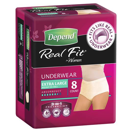 Depend Real Fit For Women Underwear Extra Large