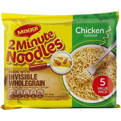 Maggi Chicken 2 Minute Noodle Wholegrain 5pk