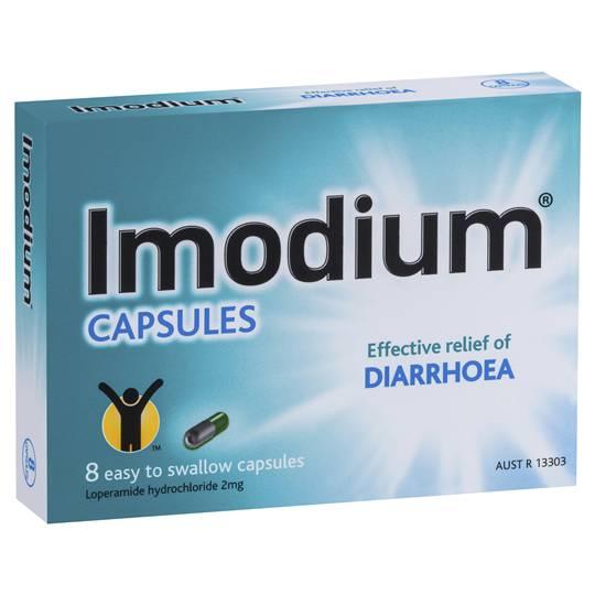 Imodium Diarrhoea Treatment 2mg Capsules