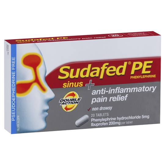 Sudafed Pe Sinus & Anti Inflammatory Double Action