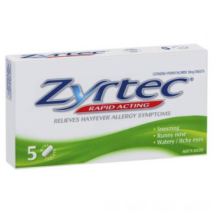 Zyrtec Hay Fever Rapid Acting Tablets