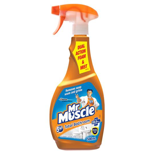 Mr Muscle Bathroom Cleaner 5 In 1 Total