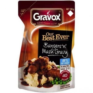 Gravox Gravy Liquid Best Ever Bangers &mash