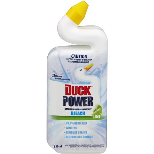 Duck Power Toilet Cleaner Bleach Lime