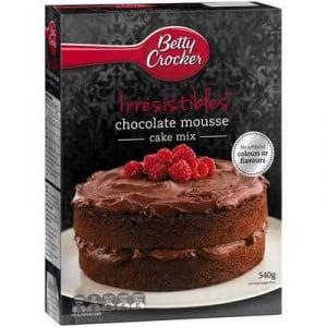 Betty Crocker Cake Mix Chocolate Mousse