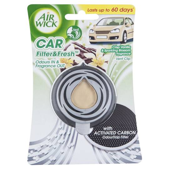 Air Wick Flip & Fresh Car Air Freshener Crisp Vanilla