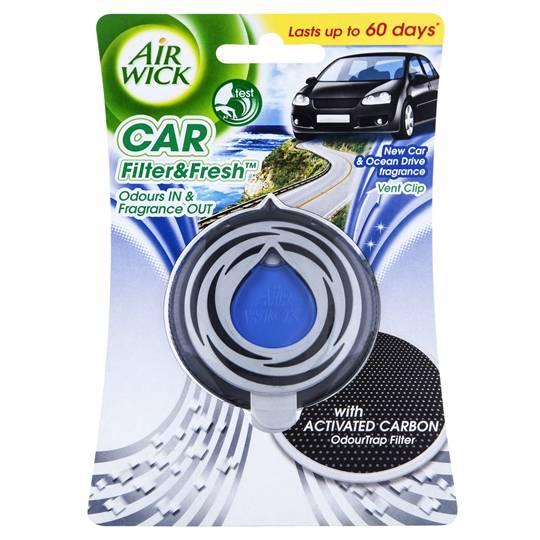 Airwick Flip & Fresh Car Air Freshener New Car & Ocean Drive