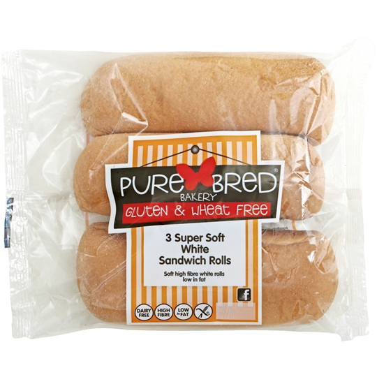 Purebred Bread Rolls Super Soft White Sandwich