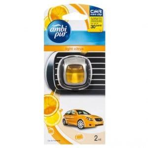 Ambi Pur Mini Clip Car Air Freshener Light Citrus