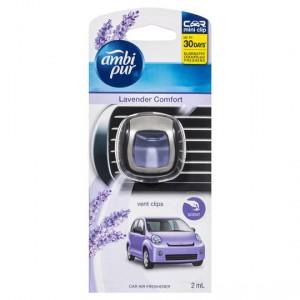 Ambi Pur Mini Clip Car Air Freshener Lavender Comfort