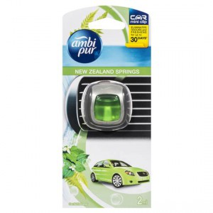 Ambi Pur Mini Clip Car Air Freshener New Zealand Springs