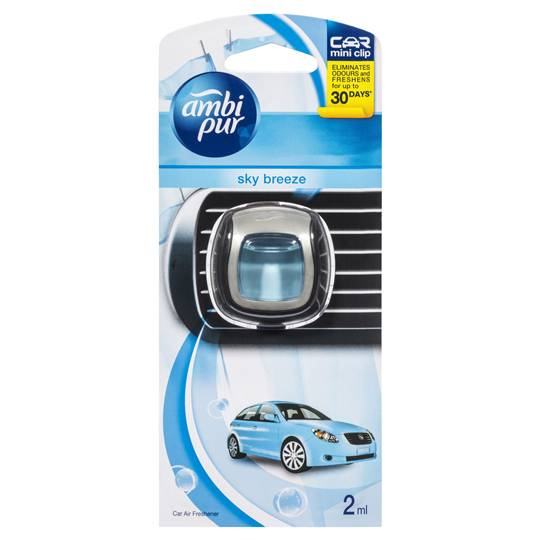 Ambi Pur Mini Clip Car Air Freshener Sky Breeze
