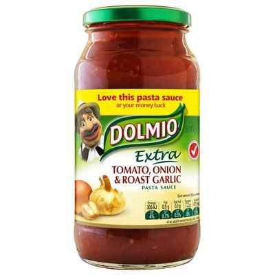 Dolmio Extra Pasta Sauce Tomato Onion Roast Garlic