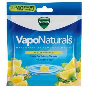 Vicks Vaponaturals Throat Lozenges Lemon Menthol
