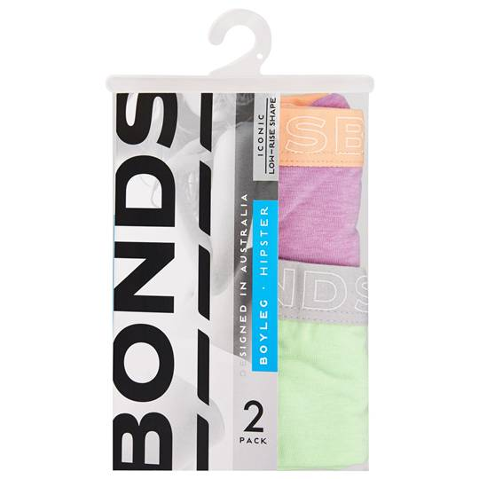Bonds Ladies Underwear Hipster Boyleg Fashion Size 12
