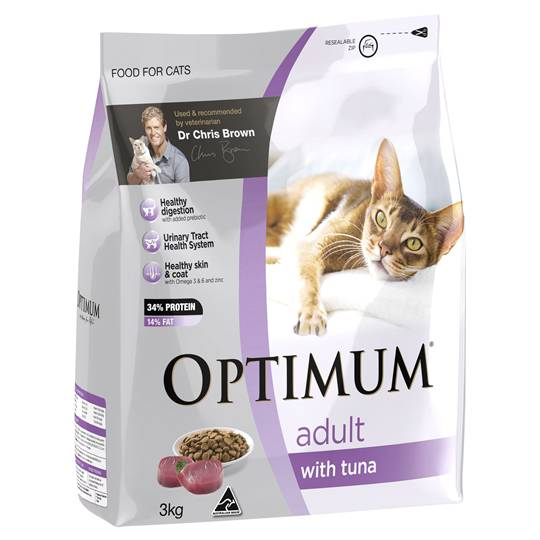 Optimum Adult Cat Food With Tuna