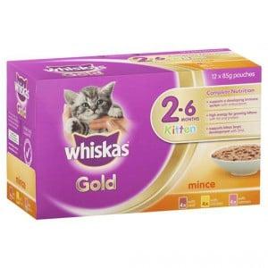 Whiskas Gold Kitten Food Variety Multipack