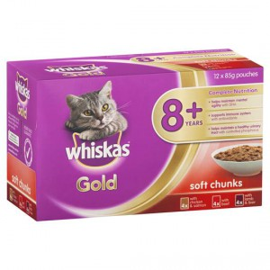 Whiskas Gold Adult Cat Food Variety 8+ Years