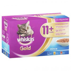 Whiskas Gold Adult Cat Food Variety 11+ Years