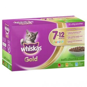 Whiskas Gold Kitten Food Junior Variety