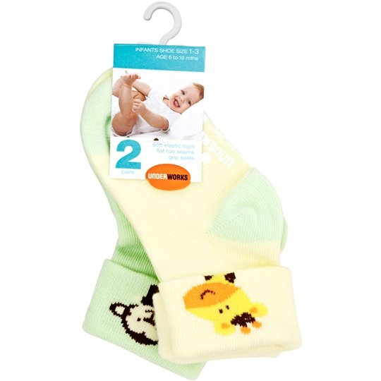 Underworks Socks Infant 1-3/2-5