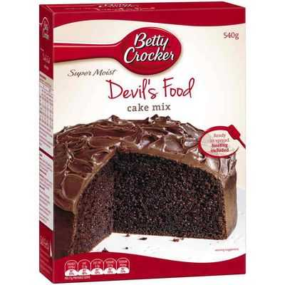 Betty Crocker Cake Mix Devil's Food
