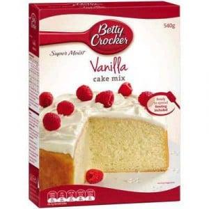 Betty Crocker Cake Mix Vanilla